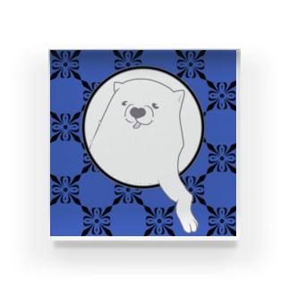 あの犬/クロム(杜若色) Acrylic Block