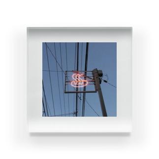 東京銭湯路線図 Acrylic Block