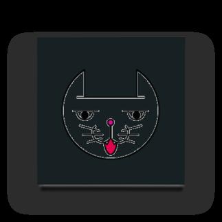 ヒロさんのグッズのネコだお(口開け)(カラー) Acrylic Block