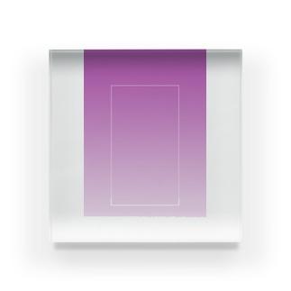 紫 Acrylic Block