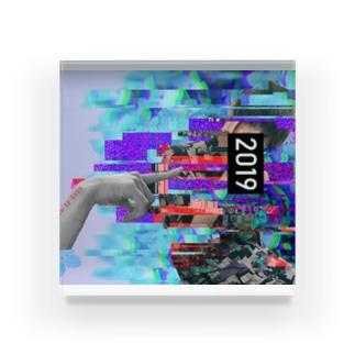 Glitch Acrylic Block