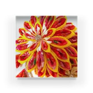 赤花咲いた Acrylic Block