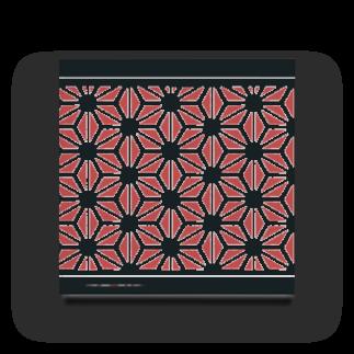 旻天堂(旧 ゆうれい星)の麻の葉 紅 Acrylic Block