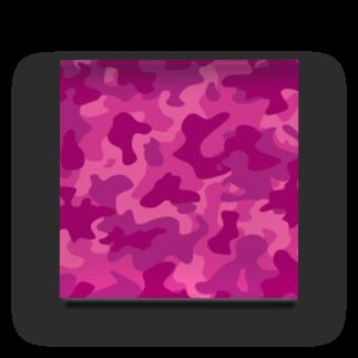 みや猫の迷彩柄(ピンク) Acrylic Block