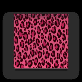 みや猫のヒョウ柄(ピンク) Acrylic Block