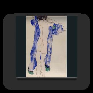 Art Baseのエゴン・シーレ / 1913 / Standing Female Nude in a Blue Robe / Egon Schiele Acrylic Block