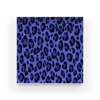 ヒョウ柄(ブルー) Acrylic Block