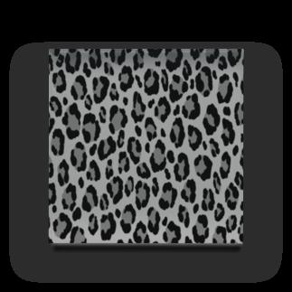 みや猫のヒョウ柄(モノクロ) Acrylic Block