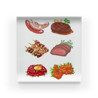 肉が好き Acrylic Block