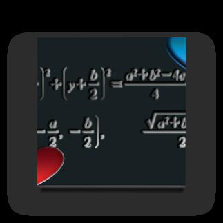 にゃんたみ屋の数学公式シリーズ4~円の方程式 Acrylic Block
