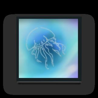 natsukichiの癒しのクラゲ Acrylic Block