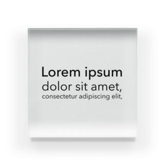 Lorem ipsum Acrylic Block