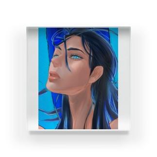 【ブス界へようこそ】 「私との闘いが終わってねえだろ」 Acrylic Block