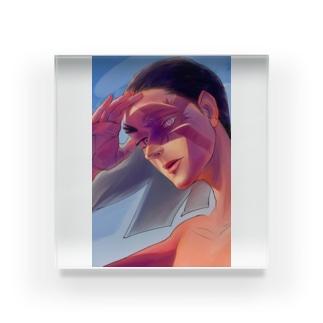 【ブス界へようこそ】 「私、あなたを倒すビジョンしか視えないです。」 Acrylic Block