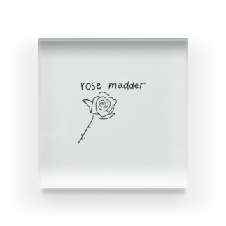 rose madder  Acrylic Block