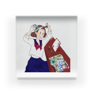 可愛くなりたい女の子 Acrylic Block