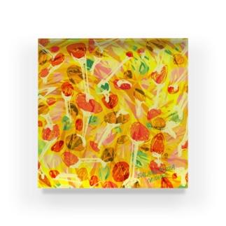 サラミピザ🍕 Acrylic Block