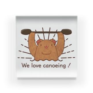 We love canoeing ! Acrylic Block