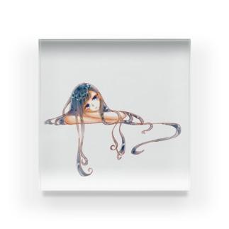 不自由少女の原画 Acrylic Block