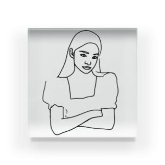 Girl.23 Acrylic Block