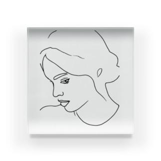 Girl.25 Acrylic Block