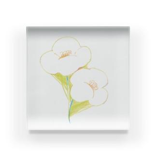 お花のあわせ Acrylic Block