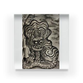 竹と虎 Acrylic Block