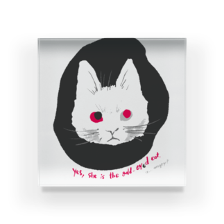 mya-mya=MIYA JUNKO's shop 02のodd-eyed cat Acrylic Block