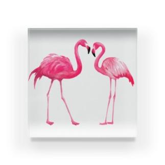 Flamingo Acrylic Block