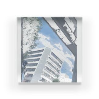 無人市街地 Acrylic Block