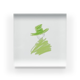 風に Acrylic Block