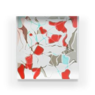 水草の金魚2 Acrylic Block