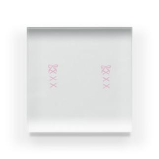 mero46のピンクリボン Acrylic Block
