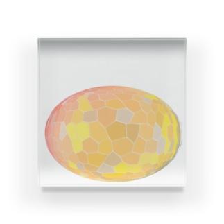 水草のオレンジ玉 Acrylic Block