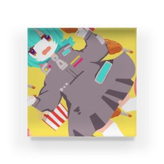 かしょく Acrylic Block