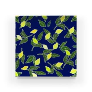 青と檸檬 Acrylic Block