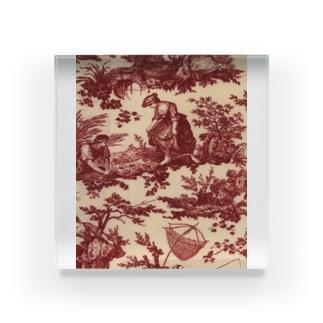 J. Jeffery Print Galleryのトワルドジュイ Toile de Jouy Acrylic Block
