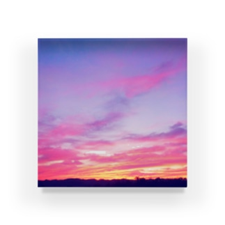 Pink Sunset sky Acrylic Block