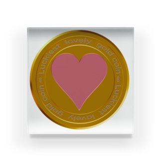 Love coin Acrylic Block