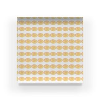 水草のハイパーオレンジ玉 Acrylic Block