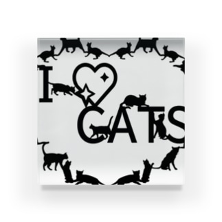 I ♡ CATS Acrylic Block