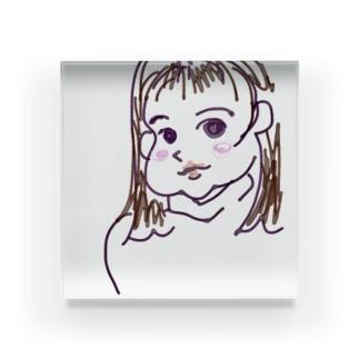 モモ Acrylic Block