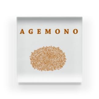 AGEMONO<揚げ物>(コロッケ とんかつ チキンカツ メンチカツ) Acrylic Block