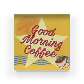 Good Morning Coffee Acrylic Block