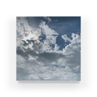 お天気雨(画像拡大版) Acrylic Block
