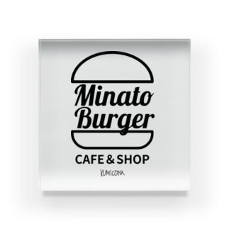 MinatoBurgerグッズ(ブラック) Acrylic Block