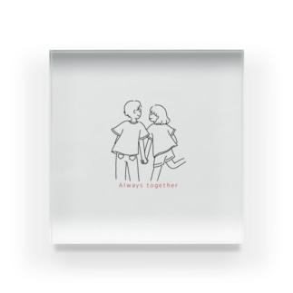 こんイラスト素敵なカップル2 Acrylic Block
