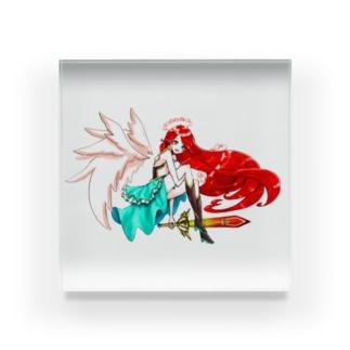 天使 ガーネット Acrylic Block