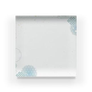 和柄(青紫陽花) Acrylic Block