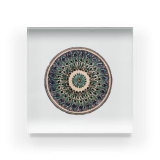 ウズベキスタンの丸模様 Acrylic Block